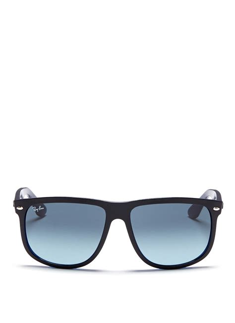 Frame Rayban lyst ban rb4147 large square frame acetate sunglasses in black for