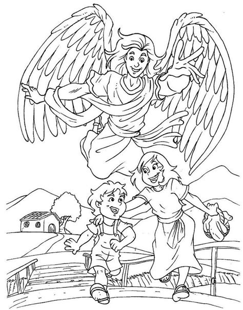 coloring pages of guardian angels male guardian angel coloring page az coloring pages