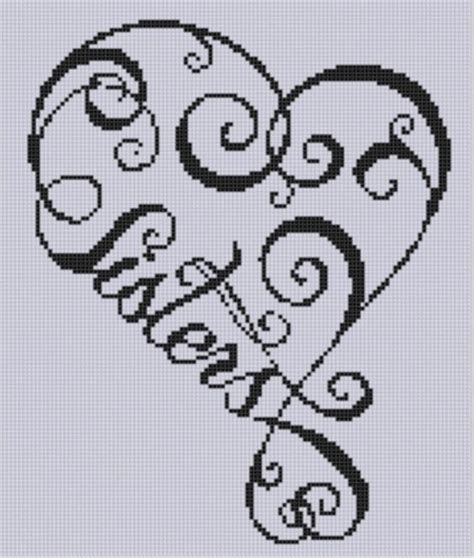 heart pattern for cross stitch sisters heart cross stitch pattern stitches patterns