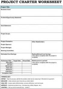 Project Charter Template by Six Sigma Project Charter Template Powerpoint
