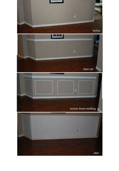 easy chair rail 1000 ideas about picture frame wainscoting on