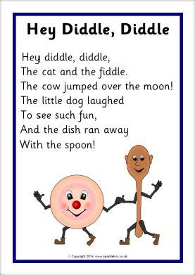 printable lyrics for nursery rhymes hey diddle diddle rhyme sheet sb10760 sparklebox