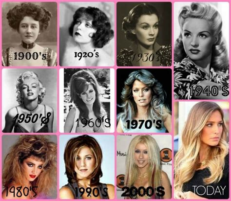 hairstyles through the decades hairstyles through the decades hairstyle of nowdays