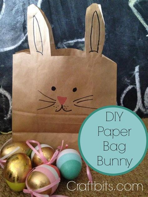 crafts using paper bags paper bag easter bunny crafts craftbits