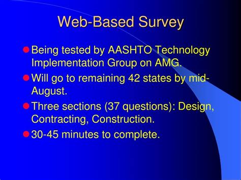Web Based Survey - ppt 3d technologies e g amg and seamless data flows impediments and