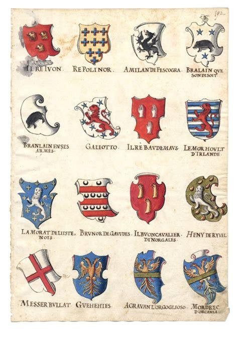 armoiries des chevaliers de la table ronde