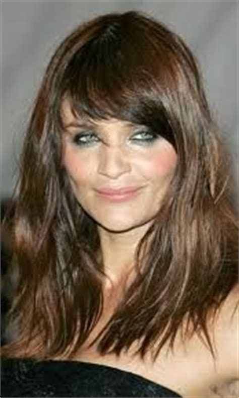long brunette hairstyles over 40 long hair into your 40s on pinterest helena christensen