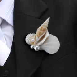 wedding boutonnieres wedding shell boutonniere groom