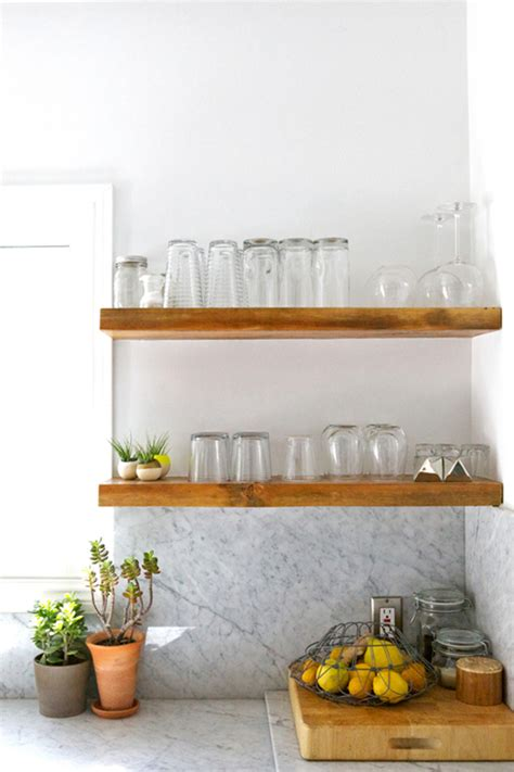 open shelving in the kitchen how to make it work