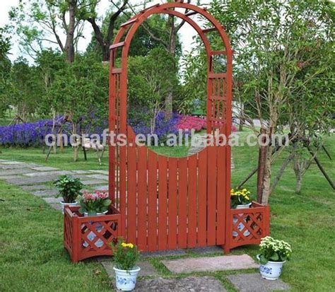 Wooden Garden Arch With Planters by Wooden Garden Arches With Planters Images