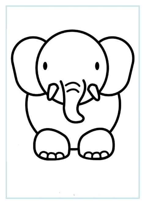 printable elephant coloring pages  preschoolfree