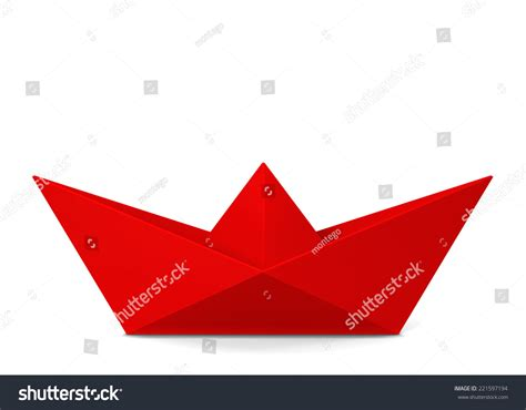 3d paper boat paper boat 3d illustration isolated on stock illustration