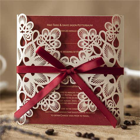 aliexpress buy luxury laser cut wedding invitations 2015 lace business
