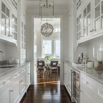 white galley butlers pantry  white beadboard trim
