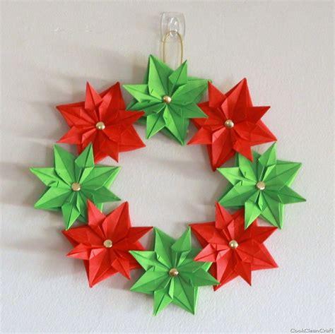 Paper Wreath Craft - paper wreath mini tutorial cook clean craft