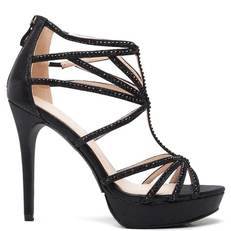 black high heels with rhinestones black high heel sandal with rhinestones