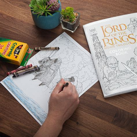 lord of the rings coloring book the lord of the rings trilogy coloring book geekalerts