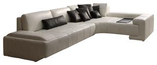 sectional trays modern white bonded leather sectional sofa with built in