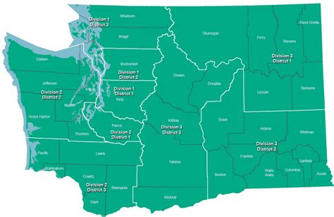 Washington State Court Name Search Court Of Appeals District Map