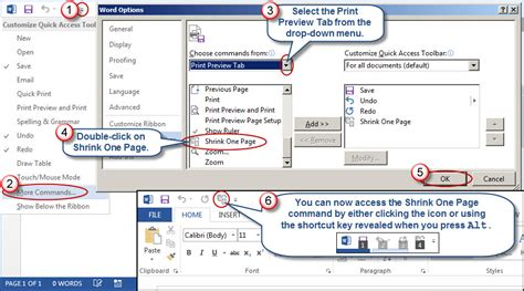 quick layout command word 2013 restoring quot shrink one page quot in word 2010 and 2013