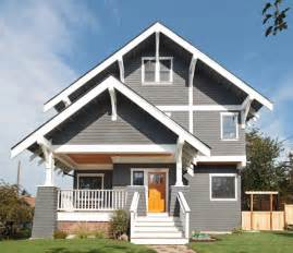 Exterior Wood Paint Grey - greenlake residence craftsman exterior other metro by first lamp
