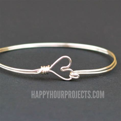 how to make a bracelet with and wire diy clasp wire wrapped bangle bracelet happy hour
