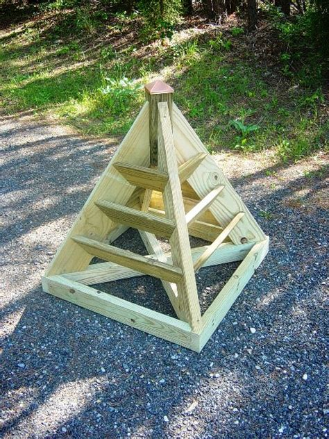 Wooden Pyramid Planter by How To Build A Vertical Pyramid Planter For Herbs