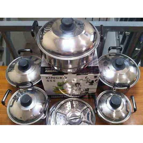 Panci Kingko Streamer Set 5 Pcs america high pots panci set steamer kingko shopee