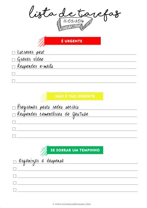 imagenes para listas html lista de tarefas para imprimir casinha arrumada
