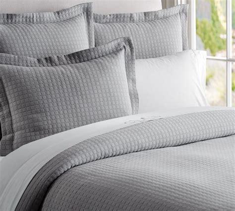 gray comforter cover cameron organic matelasse duvet cover sham smoke gray
