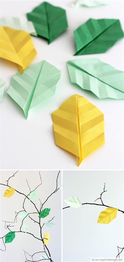 Origami Leave - basteln im herbst origami bl 228 tter basteln diy