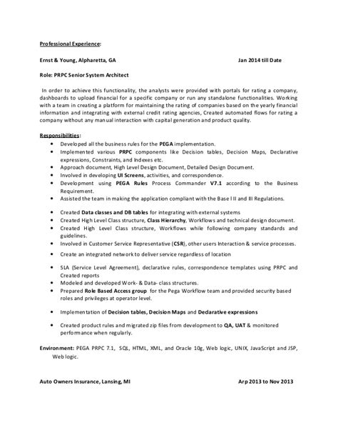 Pega Architect Cover Letter by Pega Architect Resume Pega Architect Resume Resume Ideas Pega Architect Sle Resume Format Of