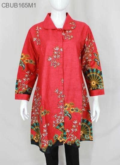 Murah Mega Jumbo Tunik Top Atasan Blouse Batik Katun Ld 118cm tunik gantari jumbo motif kipas blus lengan panjang murah batikunik