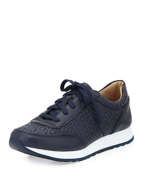burch sneaker lyst burch clive quilted leather sneaker in blue