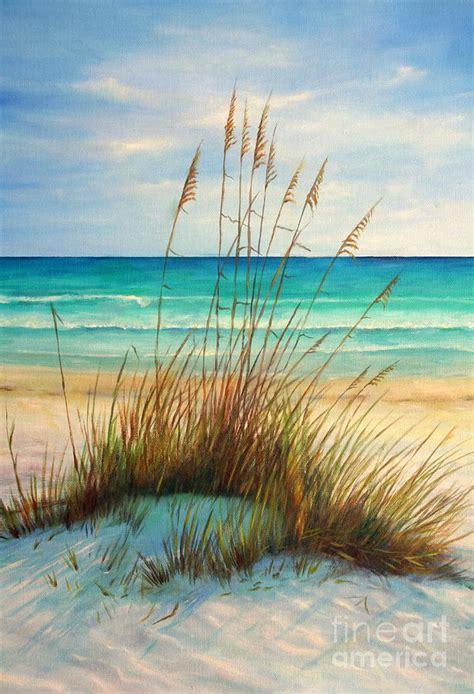 Beachy Duvet Cover Siesta Key Beach Dunes Painting By Gabriela Valencia