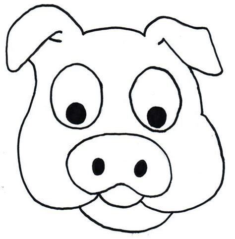 coloring pages of pig faces cartoon pig head cliparts co
