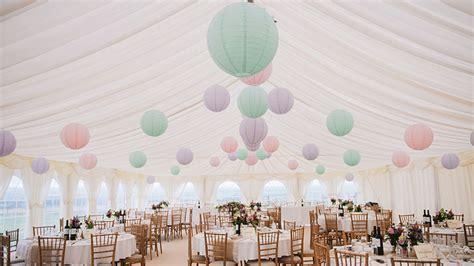 pastel marquee wedding lanterns