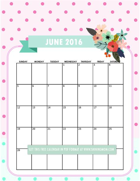 pretty calendar template pretty printable calendars for june printable calendars