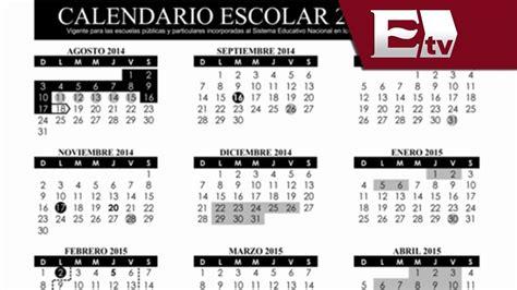 Calendario S Andrea Sep Publica Calendario Escolar 2014 2015 Conoce Los D 237 As