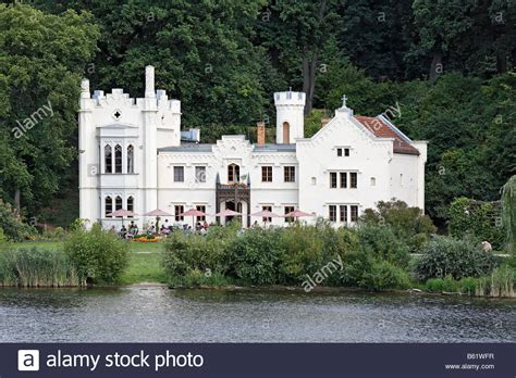 deutsche bank babelsberg small castle cafe on the bank of the tiefer see lake