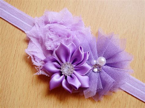 wholesale newborn headbands lace flowers shabby chic flowers fabric flower with rhinestone pearl