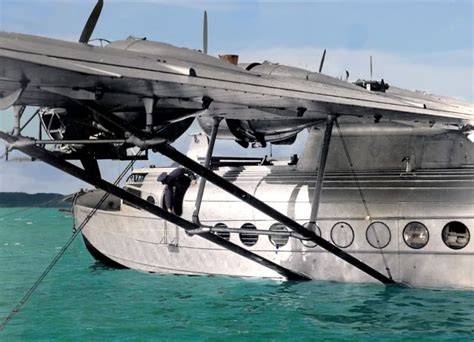 pan am flying boat pan am seaplane in nz flying boats in auckland 70 years