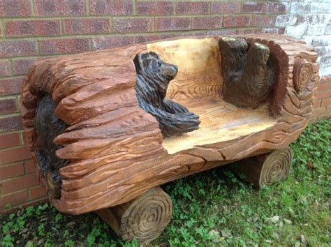 chainsaw carved benches for sale benches carrie on carving