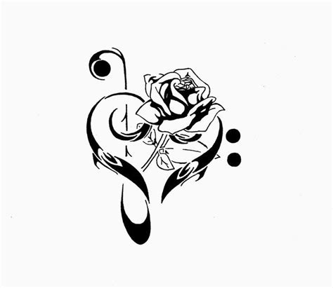 tattooed heart vocal sheet music clef with sheet music tattoo designs pin rose and treble