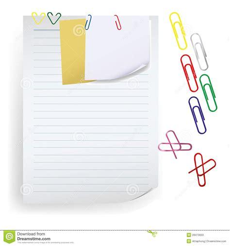New Milk Memo Note Memo memo note with paper clip vector stock vector illustration of remind clip 28473933