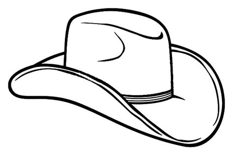 free coloring pages cowboy hat cowboy hat outline clipart best