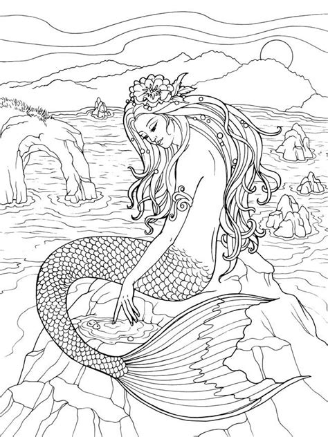 mermaid coloring book welcome to dover publications coloring pages color
