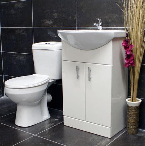 550mm bathroom cloakroom vanity basin sink unit toilet