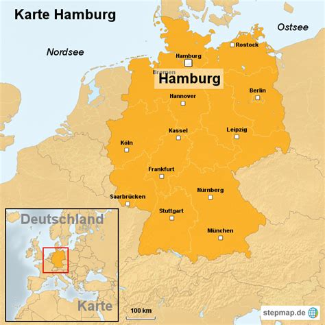 Deutsches Büro Grüne Karte Hamburg by Karte Hamburg Ortslagekarte Landkarte F 252 R Deutschland