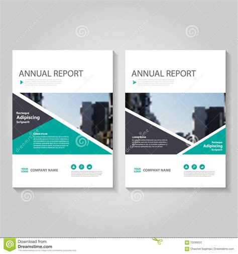 brochure template layout cover design annual report green vector annual report leaflet brochure flyer template